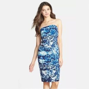 Nicole Miller 'Blue Lagoon' Print Dress Sz:M